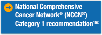 A National Comprehensive Cancer Network (NCCN) Category 1 recommendation